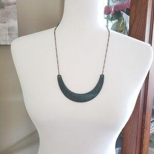 Green bohemian tribal southwestern necklace